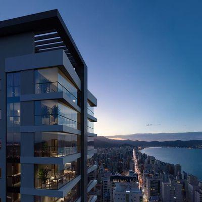 Shard Tower - Apartamento na planta com 03 e 04 Suites Em Meia Praia Itapema SC