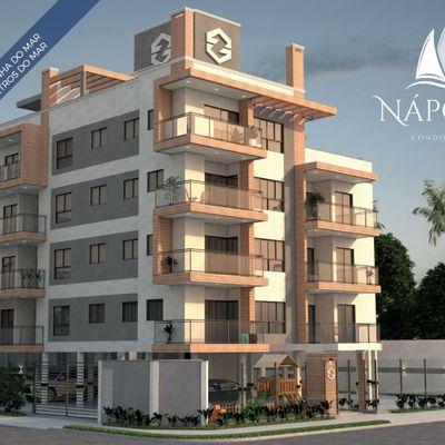Lançamento! Residencial Nápoles, aptos c/ 02 ou 03 quartos e Coberturas, 250m do mar - Baln. Rainha