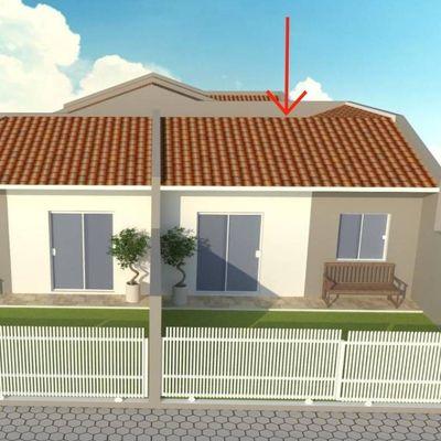► Casa nova c/ 43,19m², 02 quartos, 400m do mar, R$ 149.000,00 - Balneário Alvorada