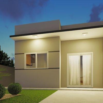 ► Casa nova c/ 49,95m², 2 quartos, terreno livre. Balneário Mariluz