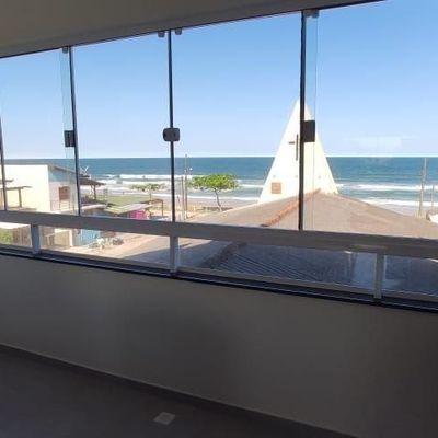Temporada - Apartamento Decorado, com vista para o Mar, c/ 1 suíte + 02 quartos