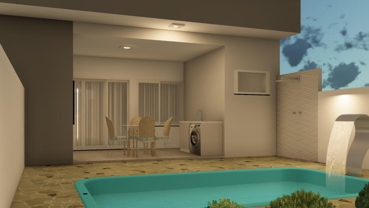 Novidade! Casas com ótimo padrão de acabamento e piscina no Jardim da Barra!
