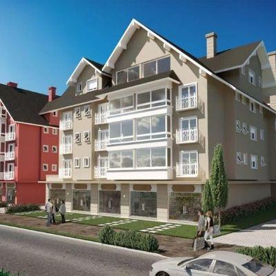 Apartamento para Venda em Gramado, colonial, 2 dormitórios, 1 banheiro, 2 vagas