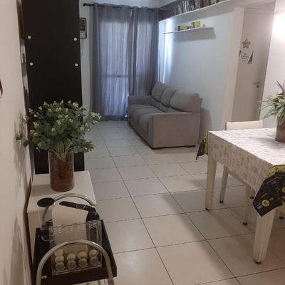 apartamento de 2 quartos com uma suíte Mais Residencial Clube Pechincha mobiliado